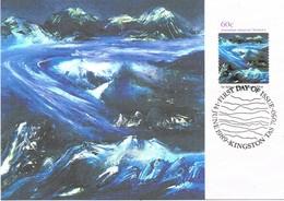 36261. Tarjeta Maxima KINGSTON (Australia) 1989. Australia ANTARCTIC Territory. Glaciar FLOW - Maximum Cards