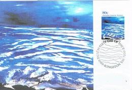 36262. Tarjeta Maxima KINGSTON (Australia) 1989. Australia ANTARCTIC Territory. FROZEN SEA - Maximum Cards