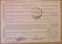 Portugal - AVISO DE RECEPÇÃO - Franchise / AVENÇA - Cancel: Lisboa EDL + Vieira Do Minho (1982) - Franchise