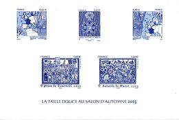FRANCE. La Taille Douce Au Salon D'Automne 2013. Emission Commune Avec Le Danemark. - Gemeinschaftsausgaben