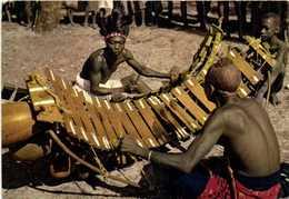 CPSM Grand Format L'AFRIQUE EN COULEURS  Joueurs De Balafon RV Beau Timbre 40f Cote D'Ivoire - Côte-d'Ivoire