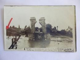 Andrézieux.  Carte Photo. L'éffondrement Du Pont Après La Crue Du 17 Octobre 1907. - Andrézieux-Bouthéon