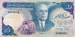 TUNISIA 10 DINARS 1983  P-80   CIRC  SERIE 268383 - West African States
