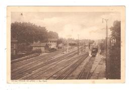 CPA 21 IS Sur TILLE La Gare Voies Ferrées B^patiments Train - Is Sur Tille
