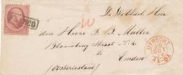 Nederland - 1866 - 10 Cent Willem III, 2e Emissie Op Briefje Van Utrecht Naar Emden - Lettres & Documents