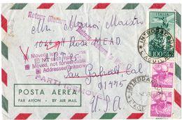 Busta Aerea Per USA Resa Al Mittente  ( 227 ) - 6. 1946-.. Repubblica