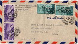 Busta Aerea Per USA  - Annullo Anno Santo ( 227 ) - 6. 1946-.. Repubblica