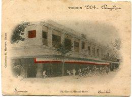 INDOCHINE CARTE POSTALE NON VOYAGEE DU TONKIN 1904 -HANOI -HANOI-HOTEL - Briefe U. Dokumente