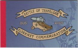 ALDERNEY   2005   PRESTIGE  BOOKLET   BATTLE OF TRAFALGAR  SG ASB15  MNH - Alderney