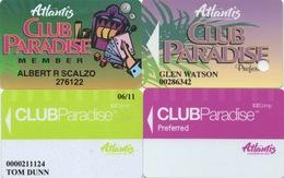 Lot De 4 Cartes : Atlantis Casino : Reno NV - Cartes De Casino
