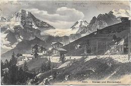 CPA  Mürren Und Mürrenbahn Breithorn Wetterlücke Tschingelhorn Tschingelgrat - BE Berne