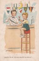 """Illustrateurs JeanCHEVAL """"Goutez Moi ça... ça Vous Réveille Un Homme! """"(lot Pat 90/4) - Künstlerkarten"""