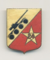 INSIGNE 24° REGIMENT DE SPAHIS MAROCAINS -24° RSM-ALGERIE-DRAGO PARIS G.1609 RESTAURATION À L'ARRIÈRE VOIR SCAN - Armée De Terre