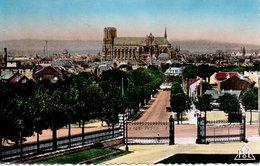 CPSM REIMS - VUE GENERALE PRISE DES CAVES POMMERY - Reims
