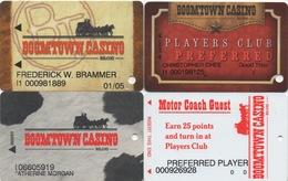 Lot De 4 Cartes : Boomtown Casino : Biloxi MS - Cartes De Casino