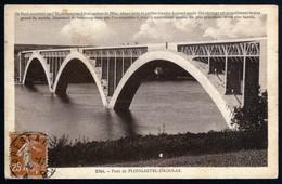 Plougastel Daoulas Le Pont Sur L'Elorn Voyagé 02 11 1930 Cachet Convoyeur Brest à Rennes TB - Plougastel-Daoulas