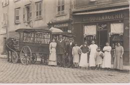 Carte Photo Devanture Boulangerie + Charette Pour La Tournée - Marchands