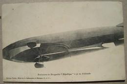 """Evolution Du Dirigeable """"République"""" à 50 M. D'altitude. Militaire Jura Parcey - Airships"""