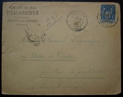 Murviel Près Béziers 1899 Domaine De Mus Fernand Lagarrigue Propriétaire (Hérault) Pour Le Clos De Contes (Nice) - 1877-1920: Période Semi Moderne