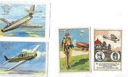 4 Images Bon-Point / Aviation / Ouragan MD450, Ryan Navion, Parachutiste, Farman 192 / Pub Chocolat STANISLAS Nancy - Autres