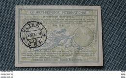 RRR! TCHECOSLOVAQUIE : Rare COUPON REPONSE INTERNATIONAL PLZEN 1929  …........MR-T3 - Czechoslovakia