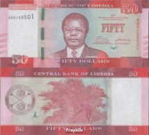 Liberia Pick-Nr: 34b Bankfrisch 2017 50 Dollars - Liberia