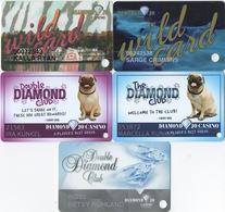 Lot De 5 Cartes : Diamond Jo Casino : Dubuque - Cartes De Casino