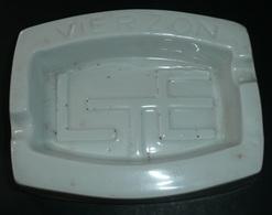 Rare Cendrier En Céramique émaillée Publicitaire Pub VIERZON LTE L.T.E. - Autres