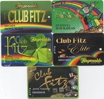 Lot De 5 Cartes : Fitzgeralds Casino : Black Hawk CO - Cartes De Casino