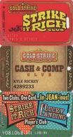 Lot De 3 Cartes : Gold Strike Casino : Jean NV - Cartes De Casino