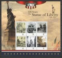 Nevis 2011 - MNH Sheet 1 - 125 YEARS STATUE OF LIBERTY - Denkmäler