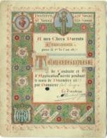 Diplôme. Institut St.Josse à St.Josse-Ten-Noode. Etrennes 1889/90. Lith. Raoux, Bruges. - Diplômes & Bulletins Scolaires