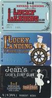 Lot De 3 Cartes : Nevada Landing Casino : Jean NV - Cartes De Casino