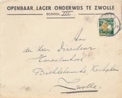 Nederland - 6 Cent Kinderzegel Op Brief Lokaal Zwolle - Periode 1891-1948 (Wilhelmina)
