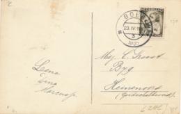 Nederland - 1935 - 1,5 Cent Kinderzegel Op Fotokaart Van Goes Naar Heinenoord - Goes, Groote Markt - 1891-1948 (Wilhelmine)