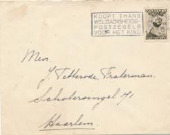 Nederland - 1935 - 6 Cent Kinderzegel Op Brief Van Amsterdam Naar Haarlem - Periode 1891-1948 (Wilhelmina)