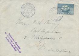 Nederland - 1935 - 12,5 Cent 300 Jaar Curacao Op Brief Van Postkantoor Den Haag Naar Post Inspektor Essen / Deutschland - Periode 1891-1948 (Wilhelmina)
