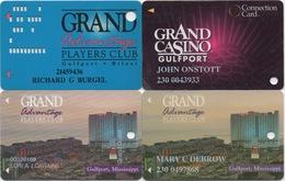 Lot De 4 Cartes : Grand Casino : Gulfport MS - Cartes De Casino