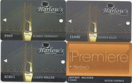 Lot De 4 Cartes : Harlow's Casino Resort : Greenville MS - Cartes De Casino