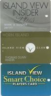 Lot De 3 Cartes : Horn Island View Casino Resort : Gulfport MS - Cartes De Casino