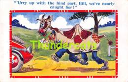 CPA ILLUSTRATEUR HUMOR HUMOUR ARTIST SIGNED   POLICE COW VACHE - Humour