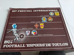 FOOTBALL REVUE FESTIVAL INTERNATIONAL TOULON RARE - Advertising