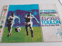 FOOTBALL REVUE FESTIVAL INTERNATIONAL TOULON RARE + 1 REVUE ARGENTINE - Advertising