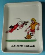Rare Ramasse-monnaie Vide-poche En Céramique émaillée, AS Ferté Imbault 41, Foot Football Footballeurs Ballon - Football