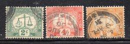 752 490 - HONG KONG 1924, Segnatasse Tre Valori Usati (M2200) - Hong Kong (...-1997)