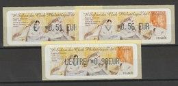 FRANCE - 3 VIGNETTES 0,51€, 0,56€ ET 0,90€ - 2E SALON DU CLUB PHILATELIQUE DE L'ELYSEE 2010 - 2010-... Illustrated Franking Labels