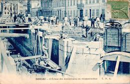 Carte 1920 DOUAI / L'ECLUSE DES DOMINICAINS EN RECONSTRUCTION - Douai