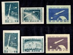 Corée Du Nord YT N° 134A/137A Et N° 160/161A Non Dentelés ** MNH. TB. A Saisir! - Corée Du Nord