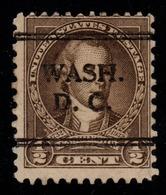 """USA Precancel Vorausentwertung Preo, WASH"""" DC)). - Preobliterati"""