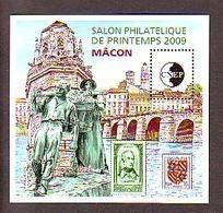 BLOC CNEP 2009 N° 53 **- SALON PHILATELIQUE DE PRINTEMPS MACON BLASON BOURGOGNE LAMARTINE - CNEP